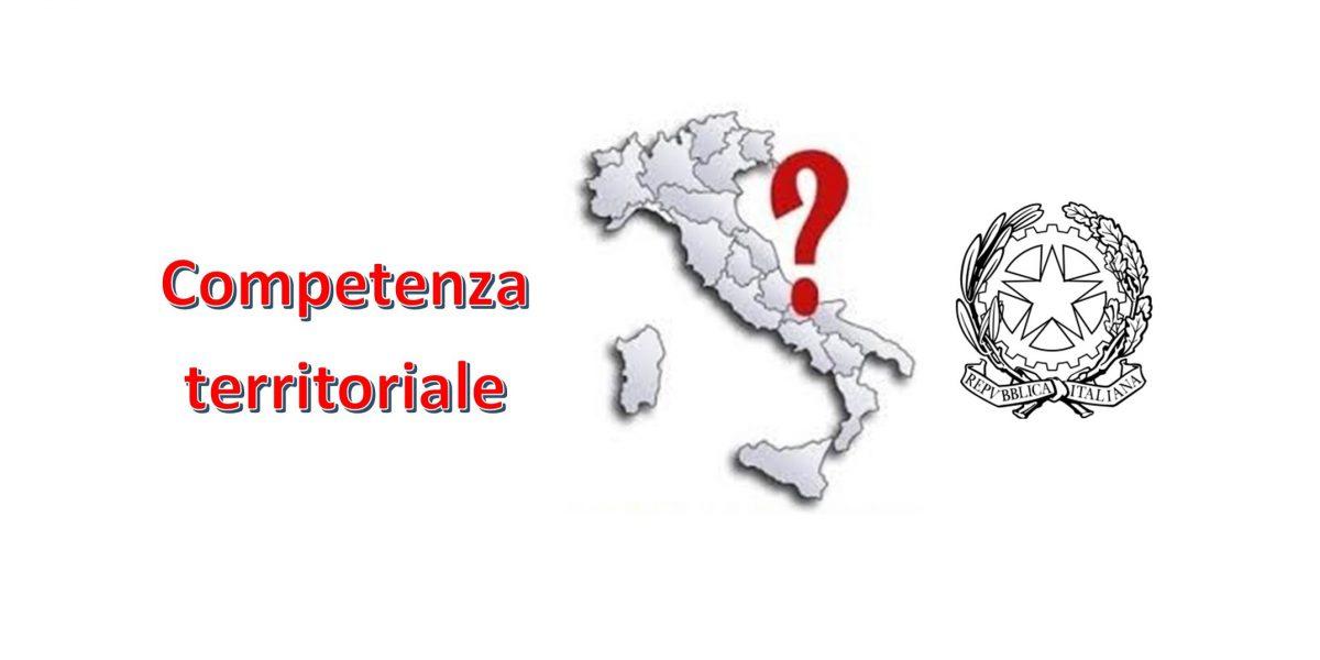 Competenza territoriale 1