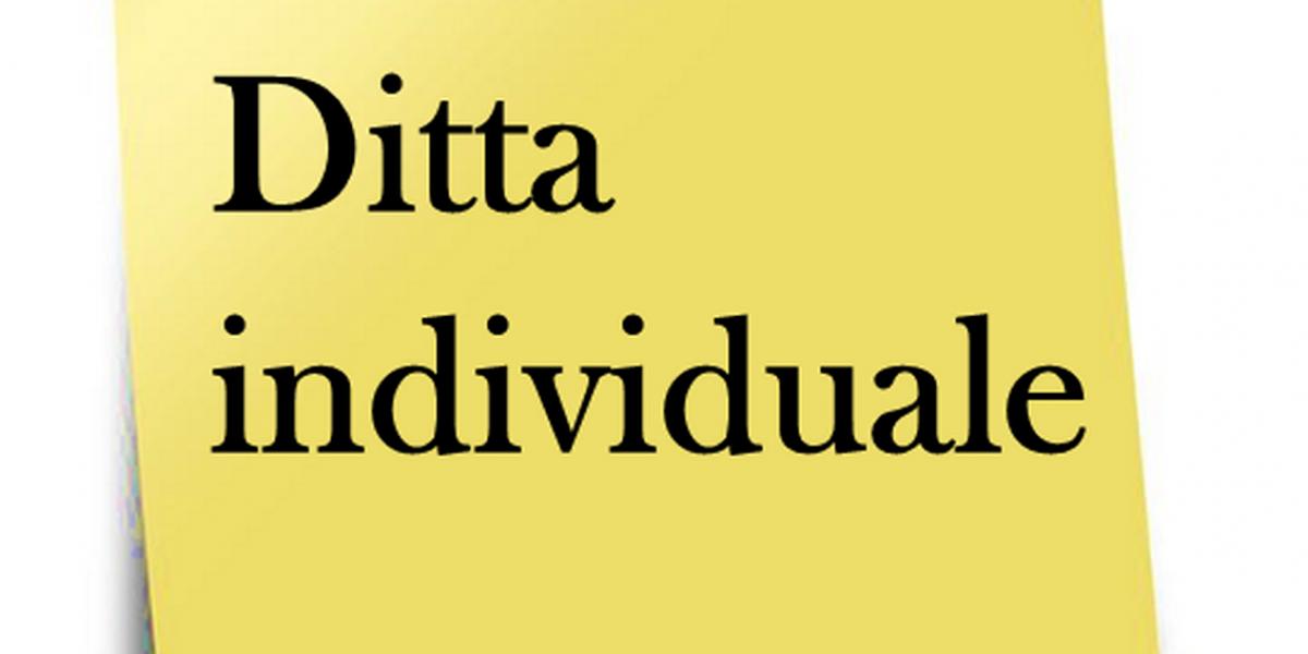 Ditta individuale 1